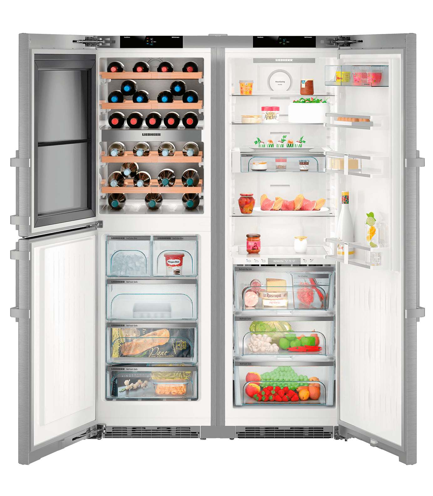 Refrigerateur Americain Faible Largeur sbses 8496 premiumplus